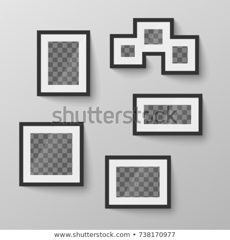 Set of black blank picture frames with transparent place for photo in different proportions Stock photo © evgeny89