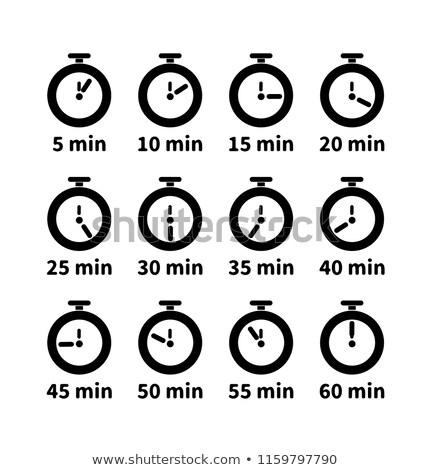 セット クロック 顔 異なる 秒 価値観 ストックフォト © evgeny89