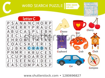 Words puzzle children educational game. Learning vocabulary. Stock photo © natali_brill
