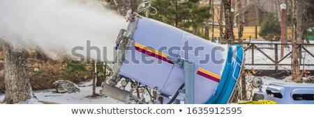 大砲 公園 雪 マシン 作り出す スキー ストックフォト © galitskaya