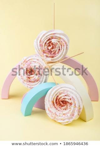 Dulce casero malvavisco pastel superior vista Foto stock © Illia