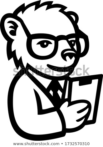 Nerdy Bear Scientist Mascot Stock photo © patrimonio