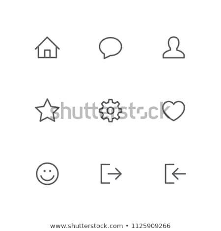 Mensen liefde dialoog icon vector schets Stockfoto © pikepicture