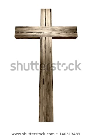 The cross. Wooden christianity symbol  Stock photo © Gelpi