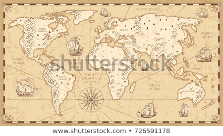 Ásia · mapa · fundo · ciência - foto stock © ilolab