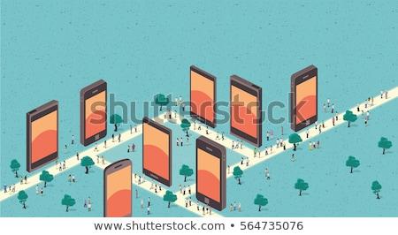 Stock fotó: Global Business Team Player