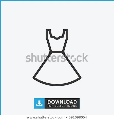 Stockfoto: Eenvoudige · kleding · jurk · iconen · vector