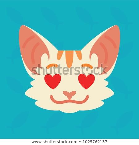 cartoon animal head stickers Stock photo © kariiika
