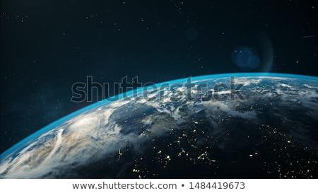 Toprak uzay görüntü dünya güneş ışık Stok fotoğraf © damonshuck