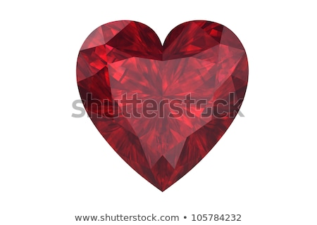 grande · rojo · corazón · aislado · blanco · amor - foto stock © nurrka
