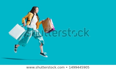 幸せ 買い物客 画像 女性 開設 ドア ストックフォト © pressmaster