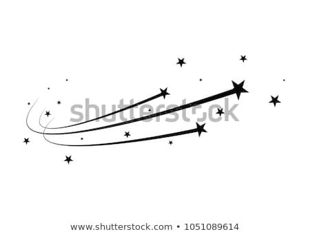 Stockfoto: Black Shooting Star