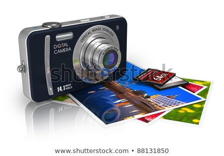 Memory card with reflection on white background. Stock photo © borysshevchuk