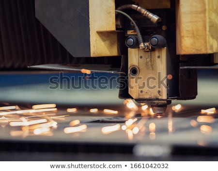 Stock photo: Laser Cutting Robot
