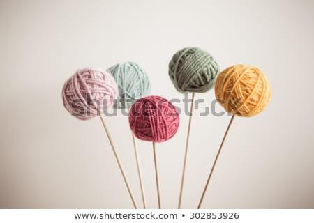 Hilados fondo grupo pelota tejido blanco Foto stock © leeser