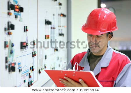 Man with electricity measurer Stock photo © photography33