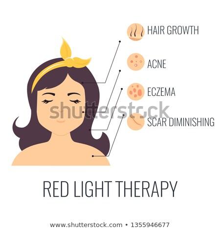 Dziewczyna czerwone światło dość czerwony neon Zdjęcia stock © curaphotography