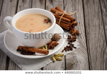 Stock fotó: Ital · levelek · tej · tea · fekete · indiai