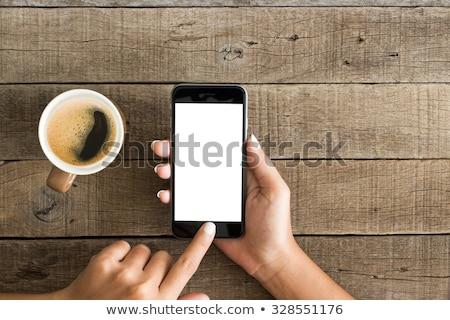 üst görmek kadın eller fincan Stok fotoğraf © stokkete