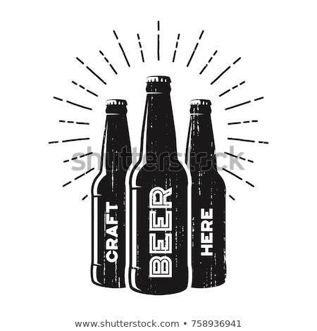 Сток-фото: пива · бутылок · изолированный · пляж · вино