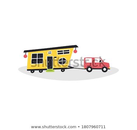 komórkowych · domu · krajobraz · człowiek · samochodu - zdjęcia stock © ivonnewierink