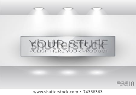 Shelf with LED spotlights Stock photo © DavidArts