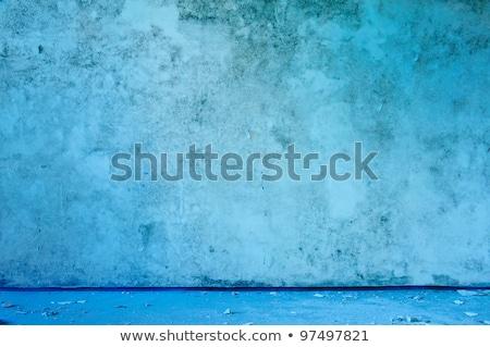 Old abandoned grungy blue interior. Stock photo © bogumil