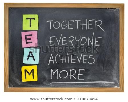 equipe · acrônimo · juntos · todo · o · mundo · mais · trabalho · em · equipe - foto stock © bbbar