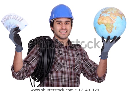 Tradesman getting rich from working abroad Stock photo © photography33