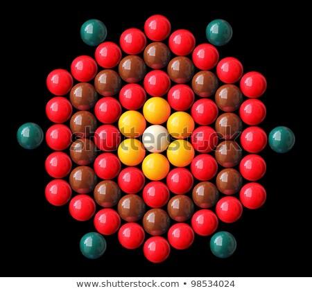 színes · snooker · golyók · forma · fehér · citromsárga - stock fotó © mnsanthoshkumar