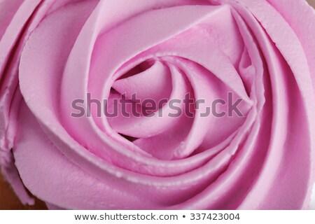 バラ バタークリーム 花 歳の誕生日 ケーキ 赤 ストックフォト © ozaiachin