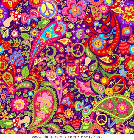 Seamless background of motley flowers Stock photo © boroda