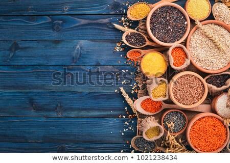 Arroz cebada especias madera placa sombra Foto stock © vlad_star