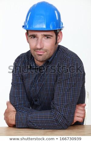 портрет человека фон работник белый Сток-фото © photography33