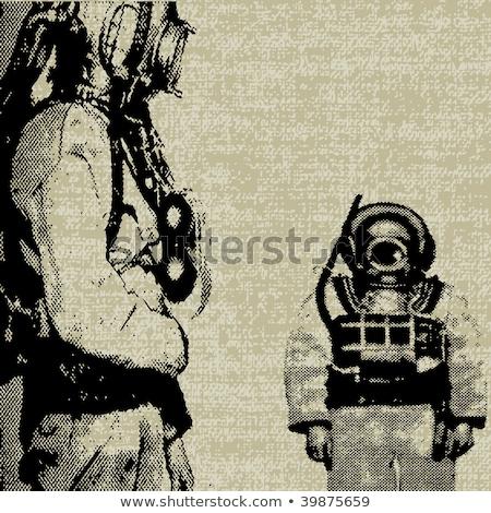 глубокий морем Diver старые дайвинг костюм Сток-фото © nik187