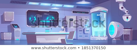 lugar · de · trabajo · laboratorio · botella · químicos · sustancia · experimento - foto stock © pressmaster