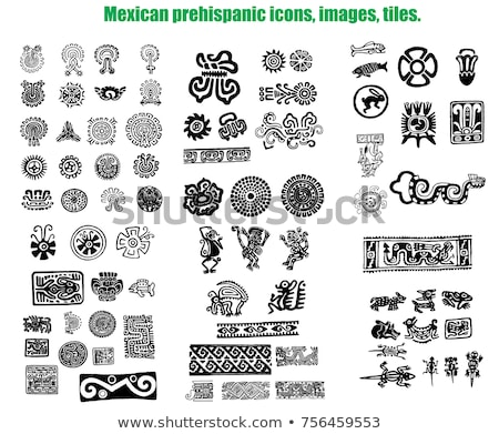 Aztec symbols Stock photo © sahua