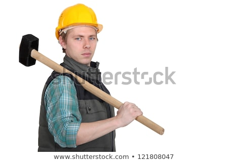 Standoffish tradesman holding a mallet Stock photo © photography33