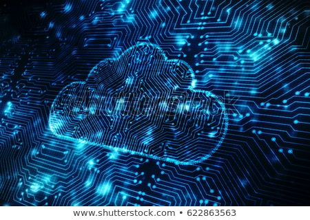 Cloud Computing Connection On Mobile Phone Stock photo © REDPIXEL