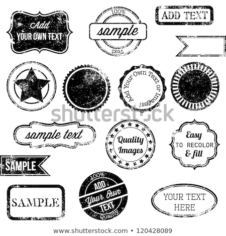 Foto stock: Retro Quality Vintage Stamps And Badges