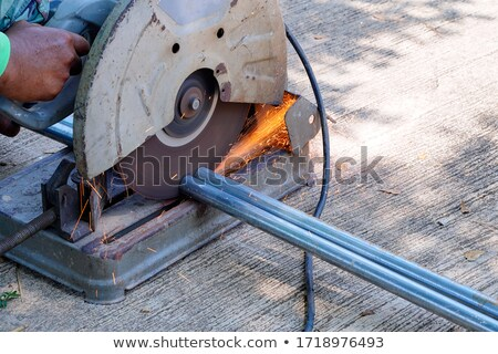 two workers using factory saw stock photo © photography33