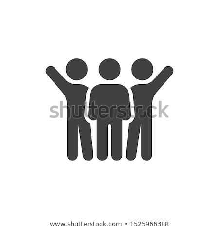 Háló haver ikonok csoport vezető üzlet Stock fotó © experimental