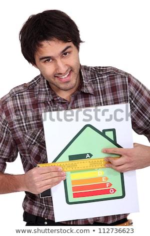 建設作業員 · 測定 · 家 · 建物 · ホーム - ストックフォト © photography33