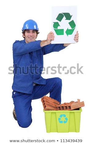 Manual worker encouraging people to recycle Stock photo © photography33