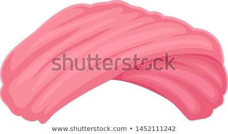 Roze tulband jonge mooie meisje handdoek Stockfoto © carlodapino