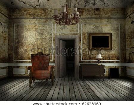 цветами · старые · комнату · Гранж · полу · дома - Сток-фото © CarmenSteiner