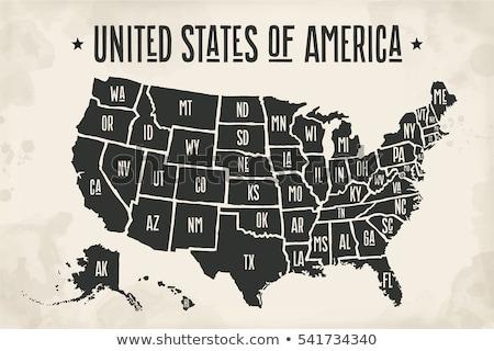 Foto stock: Map Of Arizona United States