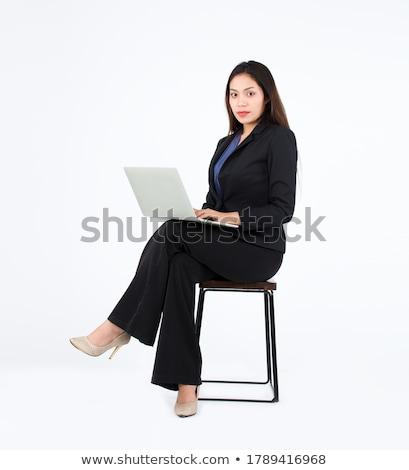 Laptop benen boven zakenvrouw Stockfoto © pressmaster