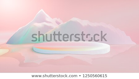 Colorful icebergs - 3D render Stock photo © Elenarts
