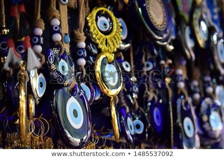 istanbul grand bazaar   turkish blue eyes nazar stock photo © bertl123